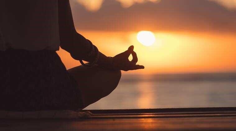 yoga sunset mindfullness
